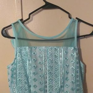 Justice teal sequin dress size 16